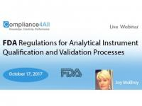 Analytical Instrument Qualification and Validation Processes - 2017