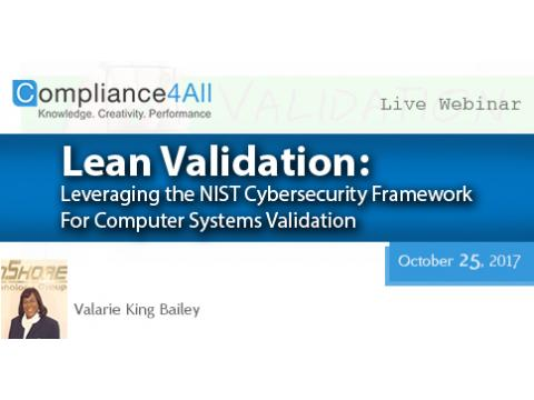 NIST Cybersecurity Framework For Computer Systems Validation