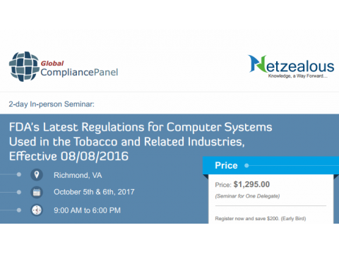 FDA's Latest Regulations for Computer Systems Used in the Tobacco 2017