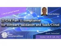 21 CFR Part 11 compliance for software validation and SaaS/Cloud 2017