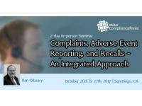 Complaints, Adverse Event Reporting, and Recalls - An Integrated Approach 2017