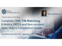 Complete 1099, TIN Matching, B-Notice, FATCA 2017