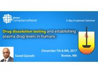 Drug dissolution testing and establishing plasma drug levels in humans 2017