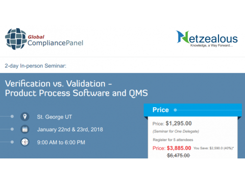 Verification vs. Validation - Product Process Software and QMS 2018