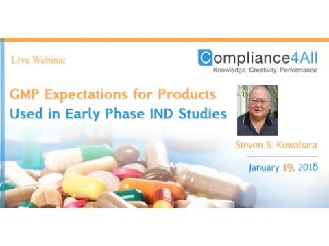 Products Used in Early Phase IND Studies