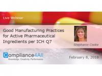 Practices for Active Pharmaceutical Ingredients per ICH Q7