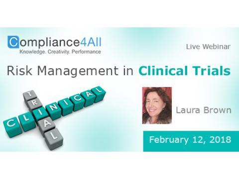 How to plan risk based approaches for clinical trials