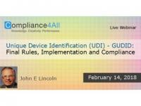 Final Rules of Unique Device Identification