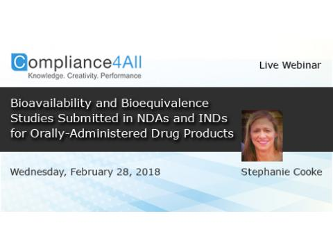 NDAs and INDs for Orally-Administered Drug Products