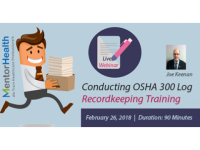 Webinar On Conducting OSHA 300 Log Recordkeeping Training