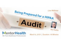 2018 Course On how to Prepare for a HIPAA Audit