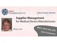 Medical Device Supplier Management Training | Switzerland