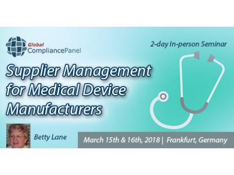 Supplier Management Solutions | Medical Device Manufacturers