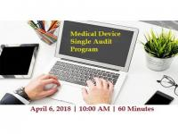 Medical Device Single Audit Program Preparation