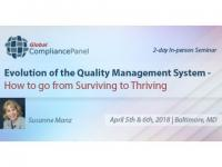 What is the Purpose of a Quality Management System Seminar 2018