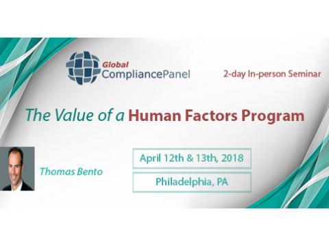 FDAs Guidance for Human Factor Engineering Seminar 2018