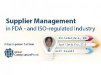 Supplier Management 2018: FDA- and ISO-regulated Industry