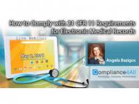 How to Comply with 21 CFR 11 Requirements