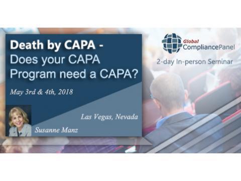 Does your CAPA Program Need a CAPA | Seminar CAPA 2018