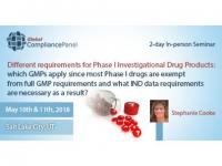 Phase I Investigational Drug Products | USA Seminar 2018
