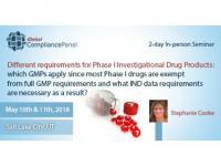 Phase I Investigational Drug Products   USA Seminar 2018