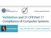 Computer Systems Validation Conference 2018 - 21 CFR Part11 Compliance