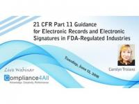 21 CFR Part 11 Guidance for Electronic Records - 2018