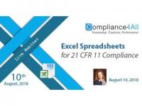 Spreadsheets for 21 CFR 11 Compliance 2018