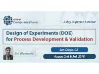 Design of Experiments (DOE) for Process Development and Validation Seminar