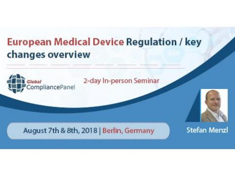 European Medical Device Regulation / key changes overview Seminar 2018