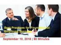 Best Practices for Foundational (Employee) Success 2018