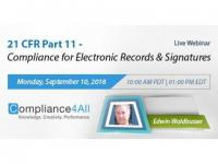 Compliance for Electronic Records and Signatures (21 CFR Part 11)