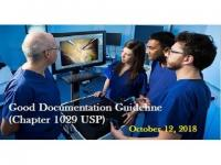 Good Documentation Guideline (Chapter 1029 USP)
