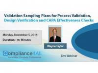 Validation Sampling Plans for Process Validation [Latest]