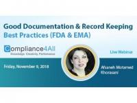Record Keeping Best Practices [FDA and EMA] Documentation