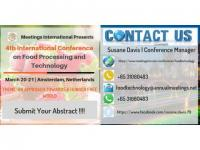 4th International Conference on Food Processing and Technology will