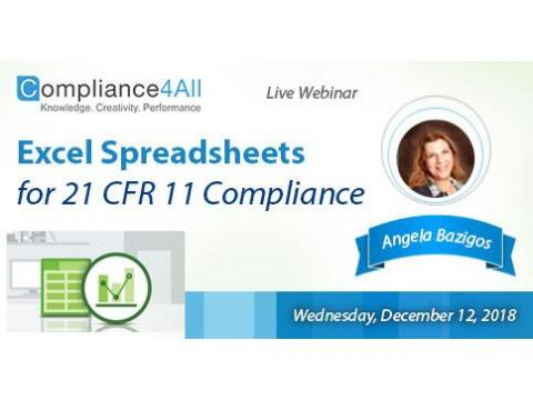Future Trends in 21 CFR 11 compliance for (Excel Spreadsheets)