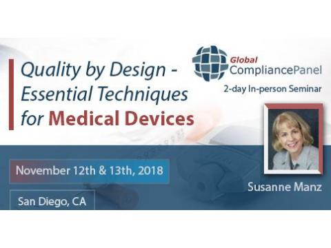 Quality by Design - Essential Techniques for Medical Devices