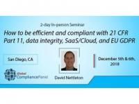 Compliant with 21 CFR Part 11, data integrity, SaaS/Cloud, and EU GDPR