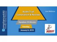 Audit Trail [Generation] and Review 2019