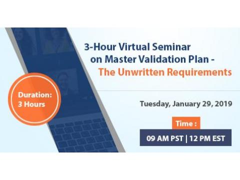 Things To Do Immediately About Master Validation Plan 2019