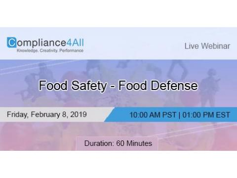 Food Safety - Food Defense 2019