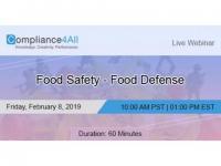 Food Safety - Food Defense 2019