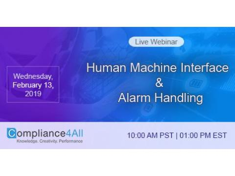 Human Machine Interface and Alarm Handling 2019