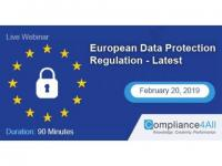 European Data Protection Regulation - Latest 2019