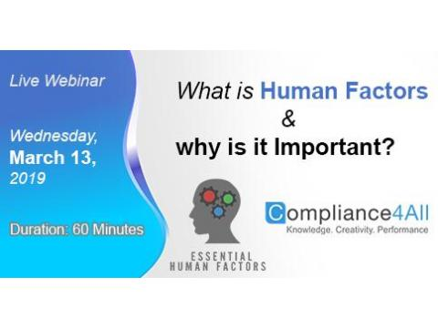 What is Human Factors and why is it Important?