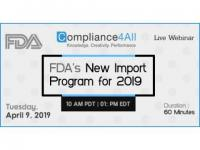 FDA's New Import Program for 2019