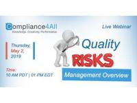 Quality Risk Management Overview 2019