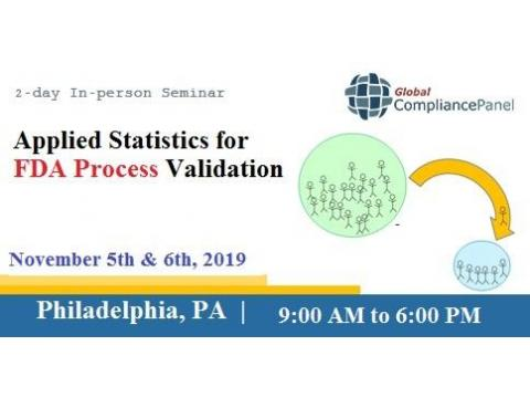 2-day In-person Seminar Applied Statistics for FDA Process Validation
