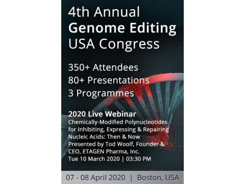 4th Annual Genome Editing USA Congress